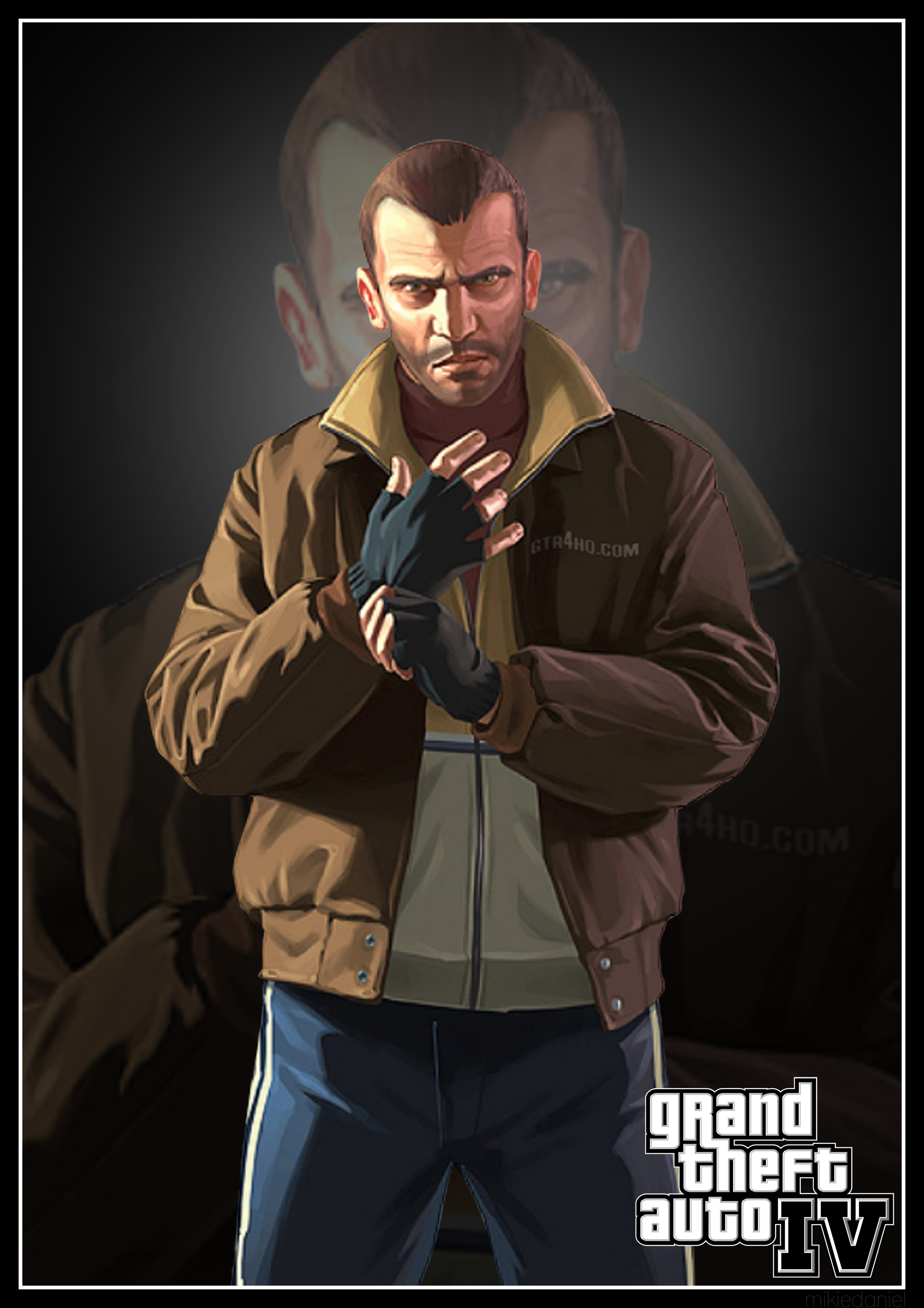 Grand Theft Auto Poster Art Series | Mikie Daniel The Girl With The Dragon Tattoo Poster