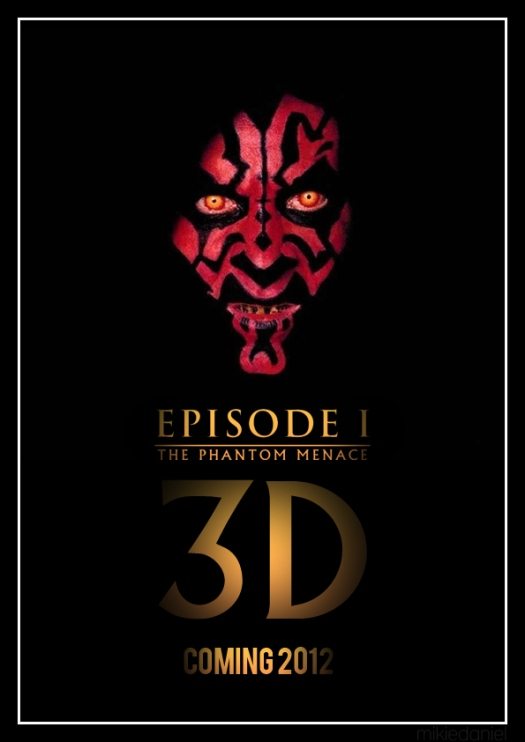 Star Wars Episode I 3D Poster