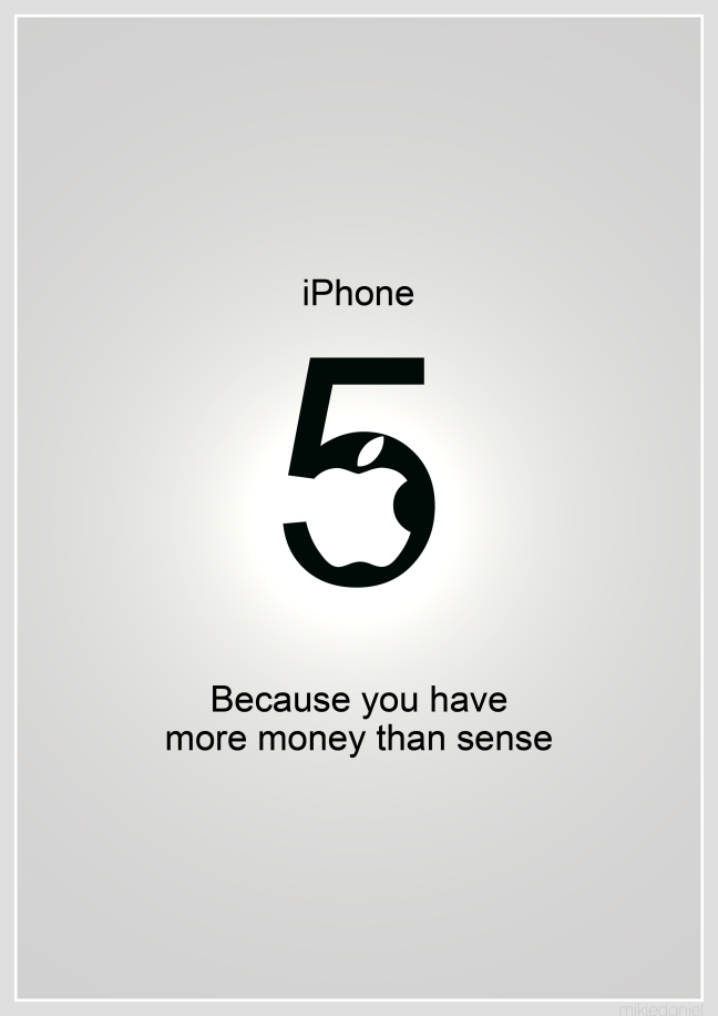 iPhone 5 spoof poster ad