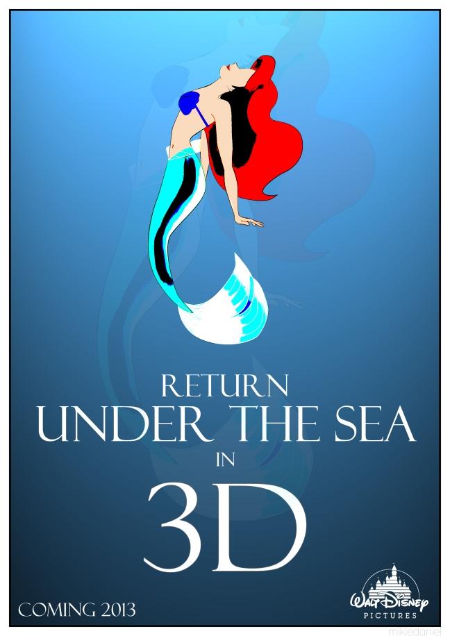 Little Mermaid 3D Poster