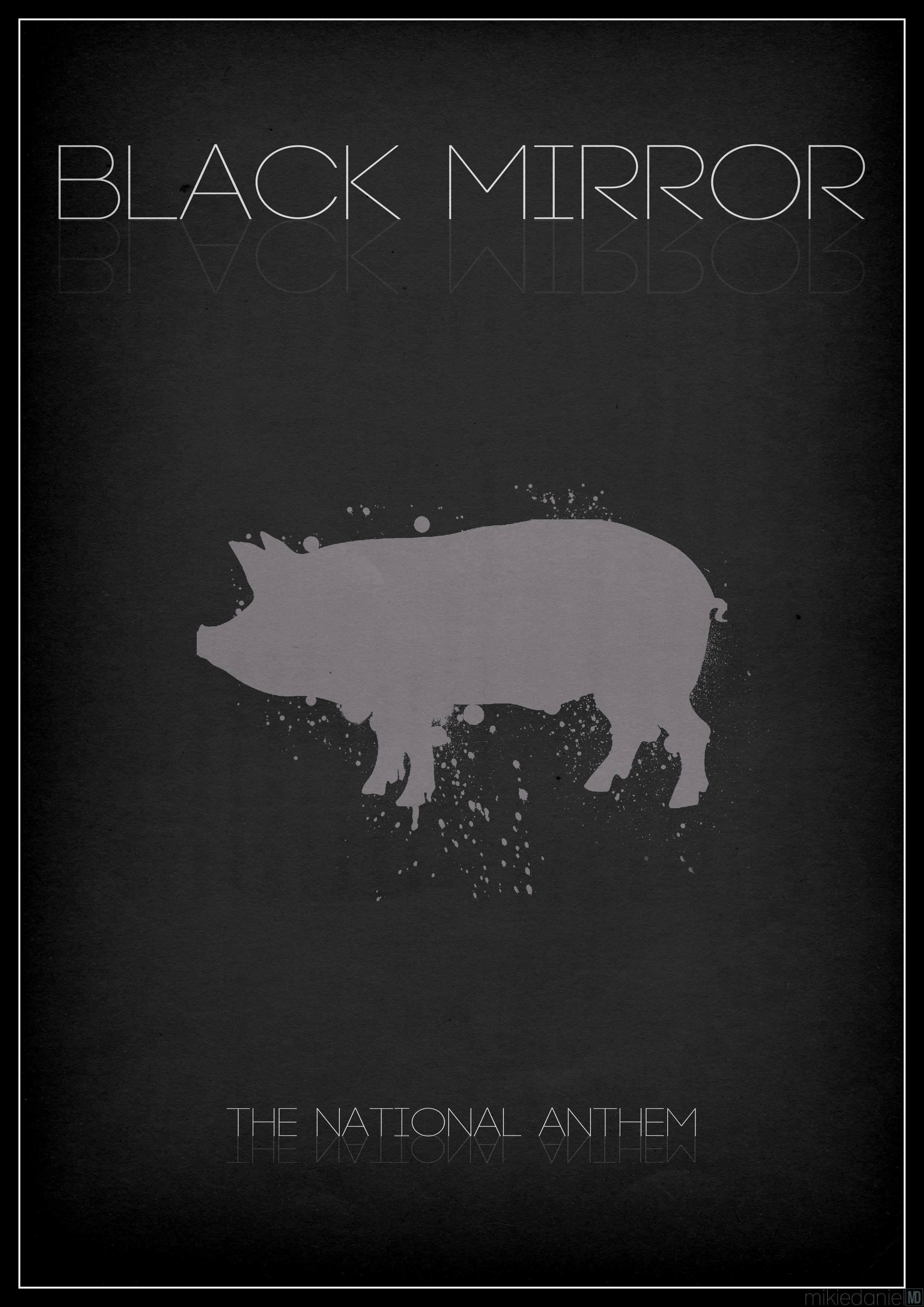 Black Mirror Pig Black Mirror Poster Set